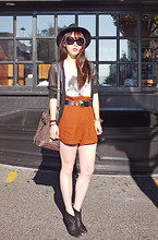 Ivy Xu - H&M Top And Sheer Cardi, Forever 21 Shorts, Zara Boots - PUB