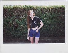 Daria G. - Smut Clothing Cropped T Shirt, Levi's® Shorts - Risqué