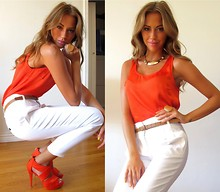 Kenza Zouiten - Zara Pants, Jeane Blush Top, Zara Shoes, Style By Tyra Necklace, H&M Belt - Can't locate where her heart is