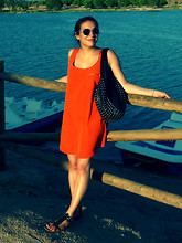 Anne P - Maje Bag, André Sandals, Mango Dress, H&M Sunnies - Proserpina