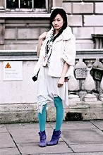 Chia Wen - New Look Fake Fur, Chu Dress, Oasis Boots - LFW