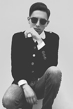Mr. Hudson - Round Neck Shirt, Sunglasses, Trousers, Jacket - Mr. Hudson