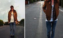 Adam Ehlert - Vailent Knox Jacket, These Glory Days Flanell Shirt, H&M Nirvana Singlet, Cheap Monday Blue Jeans - Nosebleed