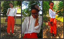 Hadassah M - Aldo Watch, Mango Top, High Waisted Pants, D&G Glasses, Vintage Bag, Cynthia Vincent Wedges - I let if fall, my heart.