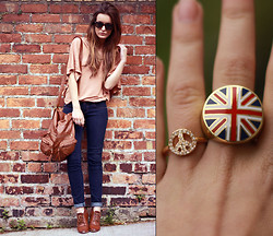 Anouska Proetta Brandon - Romwe Rings, Romwe Bag - Peace in the UK