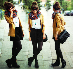 Maddy C - Blazer, Vero Moda Snood, Bag, Shorts - It's time for a snood.