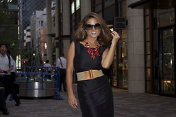 Chanyn Cheree - Mango Belt, Antonio Berardi Dress, H&M Necklace, Paul Frank Sunglasses - Antonio Berardi