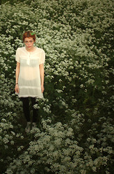 Torunn Splitter - From A Plastic Leaf, Indiska White Lace Dress, Floral Sneakers - Dogbiscuits