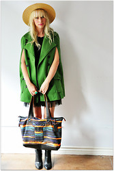 Coury Combs - Nine West Bag, Romwe Coat, Chic Wish Dress - Giles Deacon.