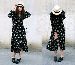 Sunny D - Vintage Dress, Aldo Heels - Vintage flowers bring summer showers