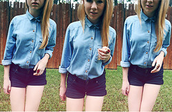 Rachel L. - Urban Outfitters Denim Shirt - Denim Days