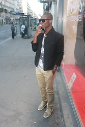 Charly A - Christian Louboutin Shoes, Christian Dior Sunglasses, The Kooples Veste, Zara Pantalon - Watch the throne