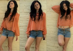 Annabelle Mackay - New Look Blouse, New Look Shorts - I fly like paper, get high like planes