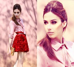 Flávia Desgranges van der Linden - Makenji Shirt, Chic Wish Skirt - Roses are not red and Romwe contest!