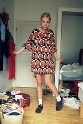 Hedvig Boström - Secondhand Dress, Dr. Martens Shoes - That lovely 70´s dress