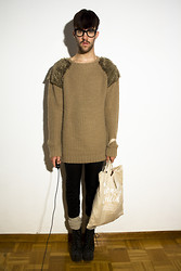 Javier Sendin - Zara Pullover, H&M Bag, Jeffrey Campbell Boots - Cold, come back soon!