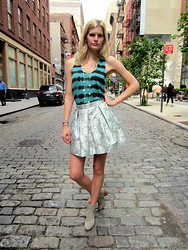Celia Ammerman - Rag & Bone Bootie, Prada Skirt, Joie Top, Van Cleef Necklace - Downtown Dalliance