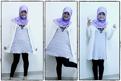 Nee-chan Annisa Yuwanda - Purple Hijab, Light Purple Dress, White Cardigan - What is the color of lavender?