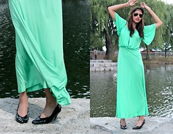 Sunny D - Vintage Maxi Dress, Vintage Heels - Mermaid's Don't Cry