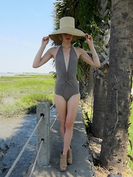 Celia Ammerman - Elizabeth And James Wedge, Saks Swimsuit, Street Fair Derby Hat - Retreat