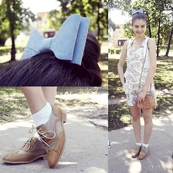 Albina H - Mango Brogues, H&M Bow - Just smile!!!!