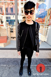 Chi Kotur - Bcbg Leather And Felt Jacket, H&M Totebag, Forever 21 Black Skinnies, Zara Sneakers, Zara Black Tee - Sf streetstyle