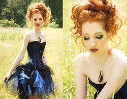 Charlotte Kinsella - Whale Boned Corset, Tutu, Stopwatch Necklace - Sometimes flowers, aren't enough.
