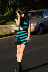 Raquel . - Jeffrey Campbell Boots, Asos Dress, Asos Ring, Svasrovisk Ring - Stripes on My Dress
