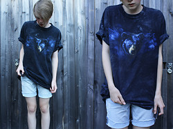 Simon Schmidt - My Dads Bear Tee, H&M Shorts - I AM NOT THE BEAR