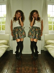 Joelle Poulos - Gap Top, Swapped It, Hemmed It Skirt, Topshop Knee Highs, Jeffrey Campbell Litas - I'm Back!