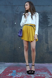 Ashley M - Chanel Bag, Prada Shoes, Urban Outfitters Skirt, Zara Shirt - Never give up