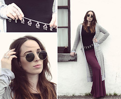 Ciara O doherty - Ebay Chain Belt, Gift Caged Ring, Gift Lennon Shades, Nasty Gal Cardigan, Nasty Gal Maxi Skirt - The Beat and the Pulse