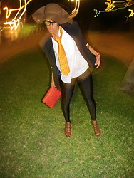 Hadassah M - Yves Saint Laurent Blazer, Mango Purse, Mango Shirt, Garage Legging - The light dance