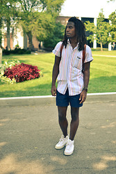Zachary Gray - Lands End Shirt, Fred Perry Tennis Shorts, Pf Flyers Shoes - Back to School