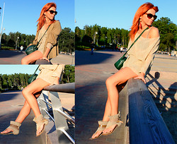 Marina Wave - Bag From Second Hand Store, Shoes From Greece - Sunset...