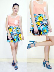 Chantal Jane - Pink Manila Top, Iconique Skirt, Fprever21 Shoes, Forever 21 Clutch - Happy Colors - TGIF!