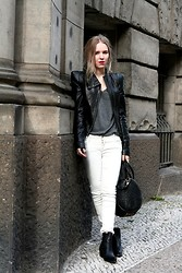 Josephine M. - C&A Leather Jacket, Shirt, Zara Jeans, Alexander Wang Bag, Sancho Shoes - Cause you cant buy a house in heaven
