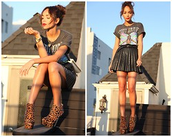 Ashley M - Kandee Shoes Boots, Storets Skirt - Stud