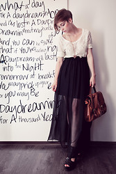 Natalie K - Charlotte Rouge Maxi Skirt, Bershka Blouse, H&M Bag, H&M Wedges - What a day for a daydreamin' boy...