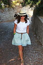 Kasia J. - Accesorize Hat, United Colors Of Benetton Blouse, H&M Belt, Levi's® Skirt, Local Shop Somewhere In Barcelona Shoes - Our wish's that we never made it through all the summers