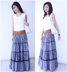 Diva In Me, The fashion lover - Zara Multi Tiers Maxi Skirt, Fendi White Big Bag - Collection #12 - House Visit Day