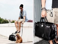 Alessio PlusG - Hermës Birkin, Diesel Keyring, Dsquared2 Shirt - A dog is not a bag!