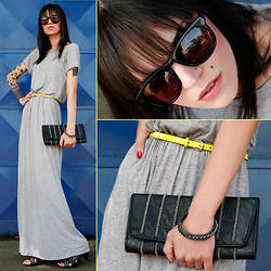 Angelica Moller - Absurda Sunglasses, Amp Amulherdopadre Long Dress, Tô Loca! Bracelet, Tô Loca! Clutch - It's Gettin' Better