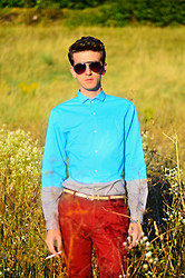 Angelo S. - H&M Shirt, Gucci Belt, Zara Pants, Louis Vuitton Sunglasses - Thank God for fashion and friends !