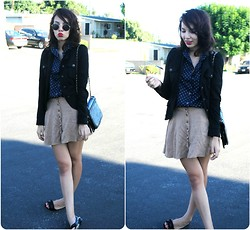 Danielle De Paul - Savers Glasses, Goodwill Buttonup, Forever 21 Jacket, Forever 21 Skirt, Christian Siriano Shoes - Yonkers?