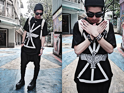 Nick Lai - Boy London Tee, Immense Harem, Converse Shoes - 010911 / In the name of the eagle