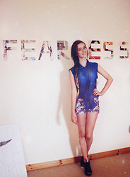 Joanna Kuchta - Primark Sheer Top, New Look Floral Hotpants, Asos Wedges - Fearless