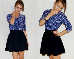 Julia R - H&M Black Skirt, H&M Checkered Blouses - Are u ready?
