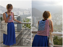 Marta K - Topshop Top, Zara Skirt, Diy Bag - KEEP CALM and VISIT RIO