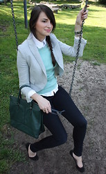 Di Enescu - Zara Blazer, H&M Bag, Zara Skinny Jeans, Primark Sweater, Koton Blouse - Back to school !?!